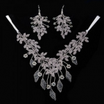 Vine Leaf Lace Necklace & Earrings