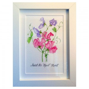 Personalised Floral Art Alternative Valentines Flowers