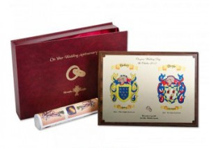 Heraldic Engagement Gifts Family Crest Handmade Wedding Gifts