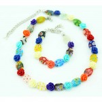 Flower-necklace-bracelet-jewellery-set-for-girls