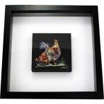 Chickens-3D-frame-irish-art