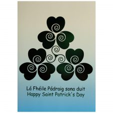 st patricks day greeting card with irish and english text