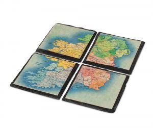 Map of Ireland Slate Coasters