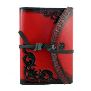 Ladies Floral Leather Journal Alternative Valentines Flowers
