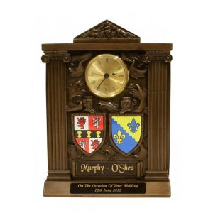 Coat of Arms Clock Handmade Wedding Gifts