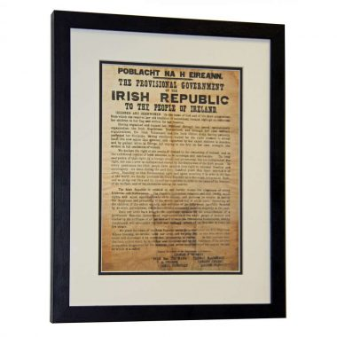 Framed 1916 Proclamation, made in Ireland