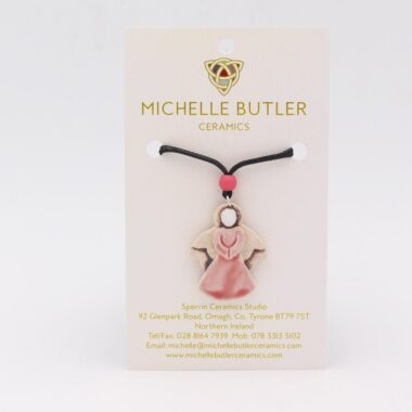 Ceramic Angel Pendant, handmade by Michelle Butler, Ireland
