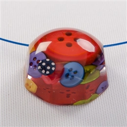 Pendant made from colourful buttons