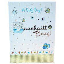 Baby Boy Card in Irish and English