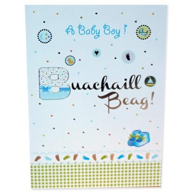 Baby Boy Card in Irish and English
