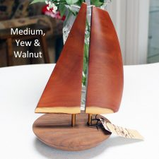 Yacht balance boat handmade from yew and walnut