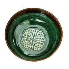 Ceramic Celtic Knot bowl, handmade in Ireland