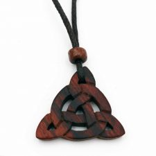 Celtic Peace Symbol Wood Pendant handmade from musical instrument cut offs in Ireland
