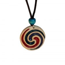 Ceramic Celtic Spiral pendant, handmade in Ireland