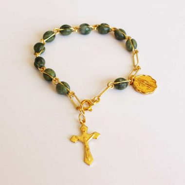 Connemara Marble Rosary Bracelet made in Ireland