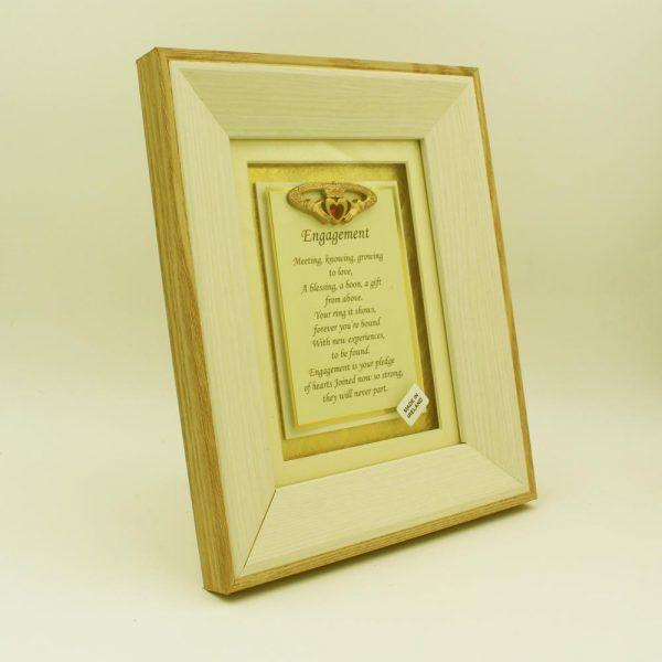 Engagement Poem framed print, engagement gift made in Ireland