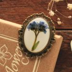 Forget me not brooch, Irish made jewellery for women
