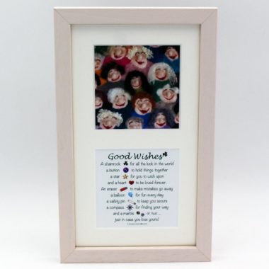 Good Wishes cute image and poem, friendship gifts made in Ireland