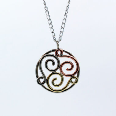 Triscle pendant handcrafted in Ireland, beautiful jewellery gifts for women Ireland, designed and made by Kieran Cummingham