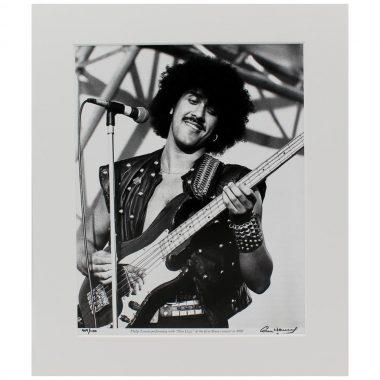 Phil Lynott 'Slane' Photo, performing with Thin LIzzy, Slane Castle Ireland, 1981