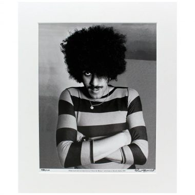 'Denis the Menace' Photo of Phil Lynott, taken in Dublin 1983 by Hot Press Photographer Colm Henry, signed