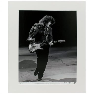 Rory Gallagher 'Self Aid' Photo taken and signed by Hot Press Photographer Colm Henry