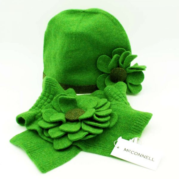 Wool Hat & Scarf, gifts for women, made in Ireland by McConnell