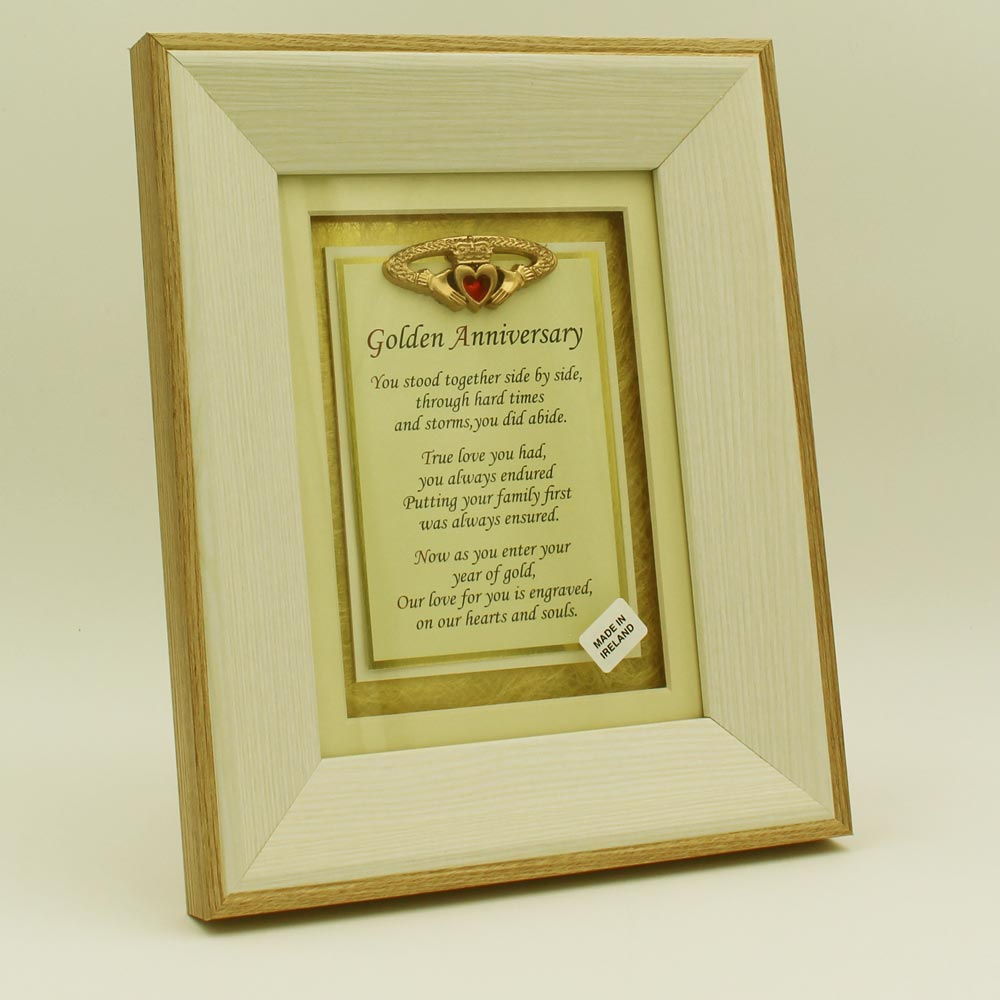 Irish Wedding Gifts From Ireland: Golden Anniversary Poem ☘ Totally Irish Gifts 50th