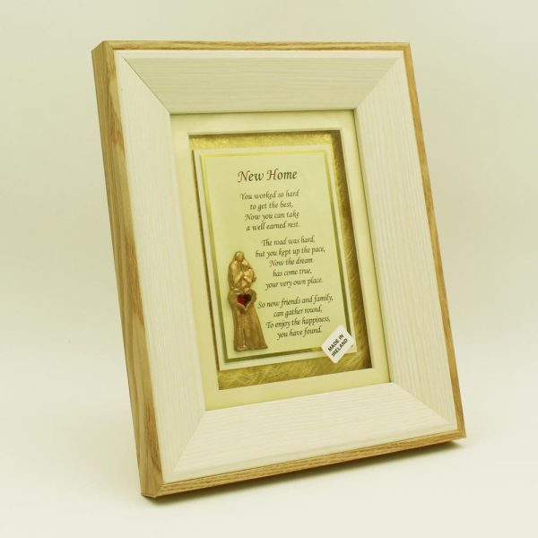 New Home Poem set in a lovely wooden frame