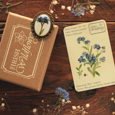 Forget Me Not Brooch, made in Ireland