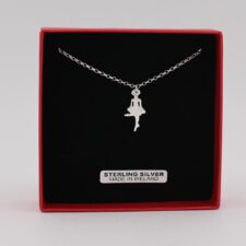 Tiny Irish Dancer Pendant, handmade from Sterling Silver by Annie Quinn, Dublin