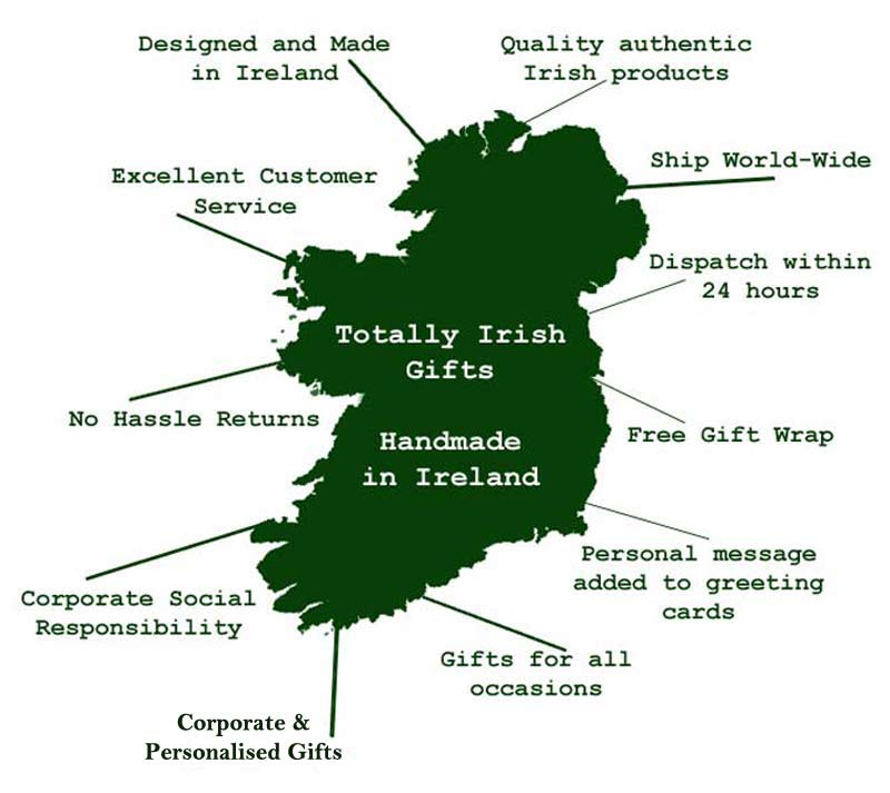 Irish Gifts Map of Ireland