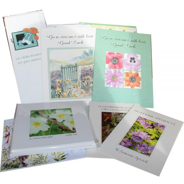 variety pack of greeting cards made in Ireland