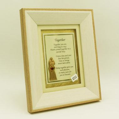 Together Poem in a wooden frame, Irish love gift