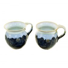Celtic Mugs set of 2, handmade Irish Pottery, made in Co Kilkenny, Ireland