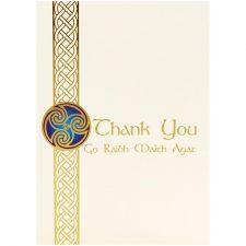 Irish thank you card, made in Ireland by Glen Gallery