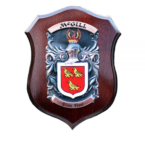 McGill Family Crest Plaque Gift from Ireland