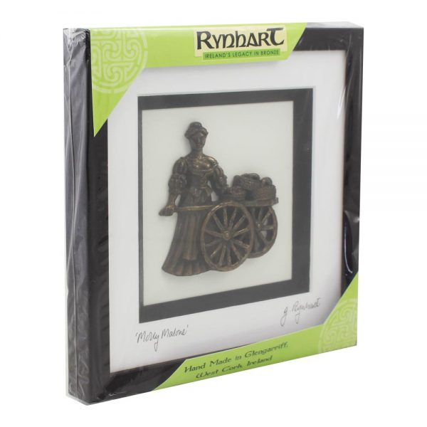 Molly Malone bronze art framed, made in Ireland
