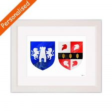 Personalised Family Crests by Painted Clans, perfect wedding gifts Ireland