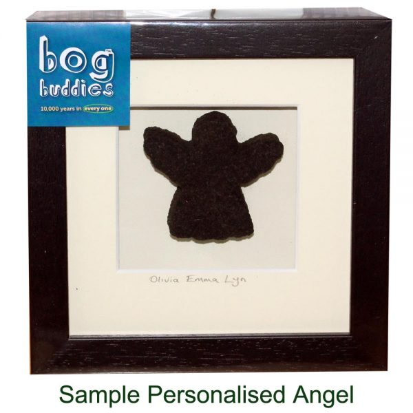 Personalised Angel Confirmation Gift made in Ireland from real turf