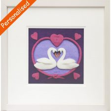 Perfect Pair framed print, personalised with names and special occasion date, handmade in Ireland
