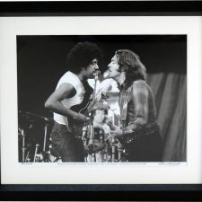 Rory Gallagher & Phil Lynott performing at Punchestown, 1982