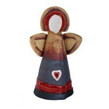 ceramic celtic heart angel, handmade angel with heart