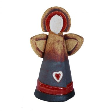 ceramic celtic heart angel, handmade angel with heart