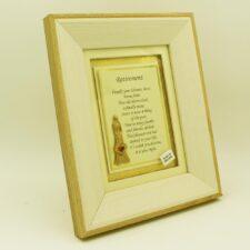 Retirement gifts Ireland, sentimental poem in a wooden cream frame