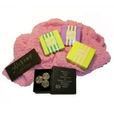 Scarf, brooch and soaps gift set for women, made in Ireland