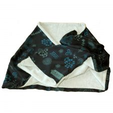 Irish silk scarf inspired by Newgrange, Ireland