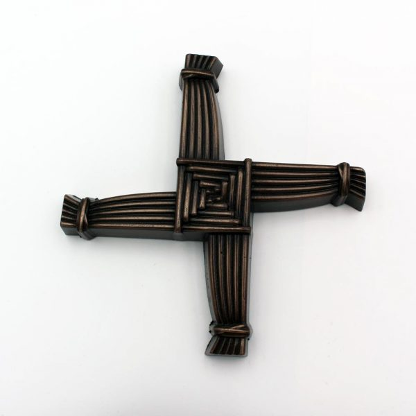 St Brigids Cross, finished in bronze, made in Ireland by Druid Craft, Cork