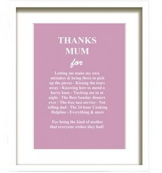 lovely print entitled Thanks Mum