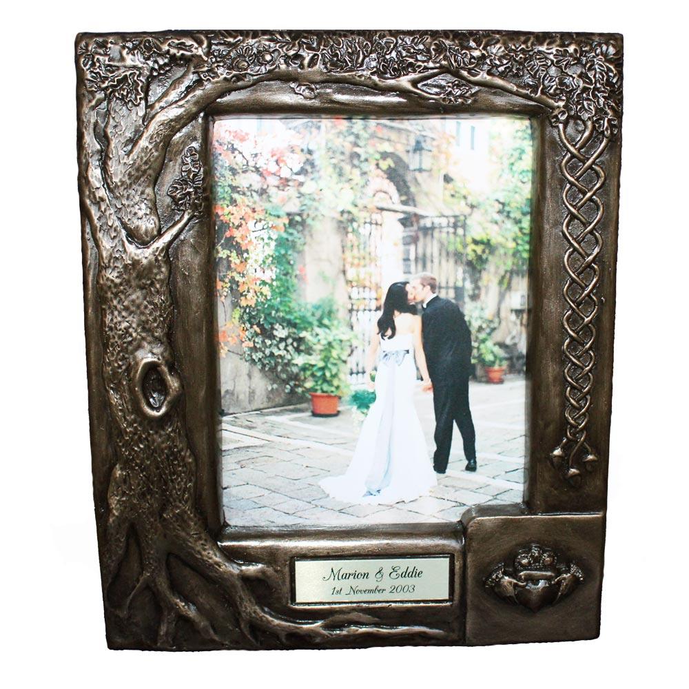 Irish Wedding Gifts From Ireland: Personalised Claddagh Wedding Photo Frame ☘ Totally Irish